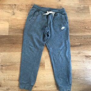 Nike Joggers Medium Blue Sweatpants Zip Pocket